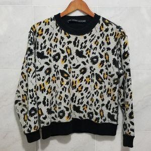 & Other Stories Leopard Jumper Pullover Ringer 6